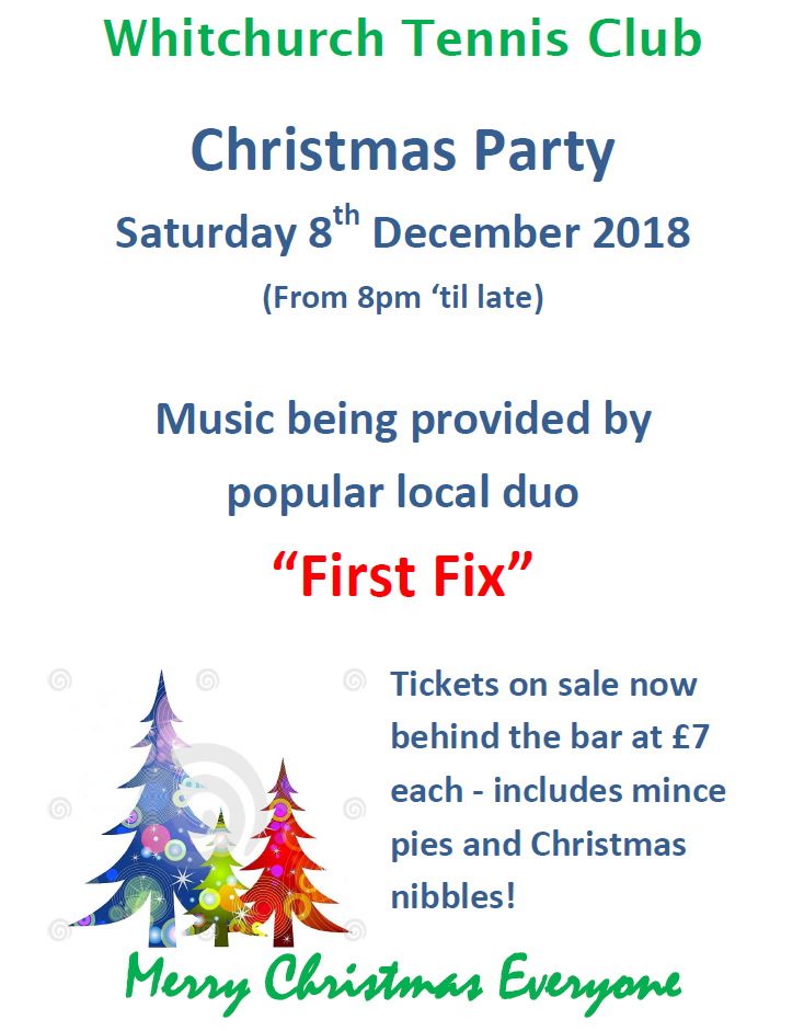 Xmas Party poster 2018