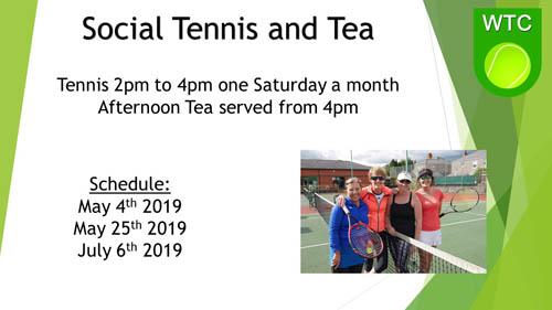 Social Tennis Spring 19