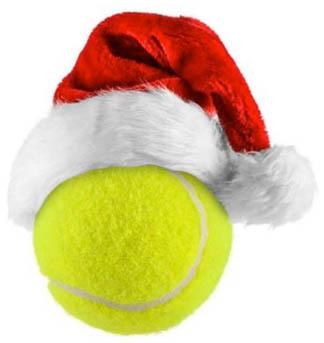 xmas tennis ball